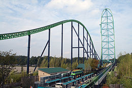 Kingda Ka, said to be the world's tallest roller coaster, Six Flags Great Adventure, New Jersey.